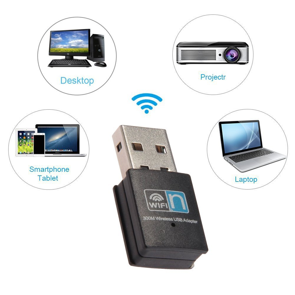 Usb Wireless N Wifi Adapter Dongle Network Lan Card 80211n 300mbps Receiver