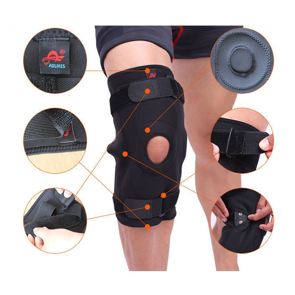3e901f6bbb Knee Support Double Metal Hined Full Brace Protection From Injury